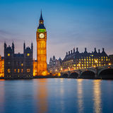 Houses of parliament at night, London Stock Images