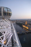 Houses of Parliament at night. Houses of Parliament from the London Eye at sunset Royalty Free Stock Photography