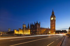 Houses Of Parliament At Night Stock Photo