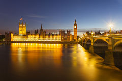 Houses Of Parliament At Night Royalty Free Stock Photo