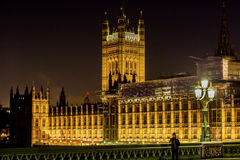 Houses of Parliament Night Westminster London England Royalty Free Stock Photo