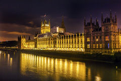 Houses of Parliament Night Westminster London England Royalty Free Stock Photos