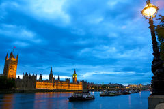 Houses of Parliament over Thames Stock Photos