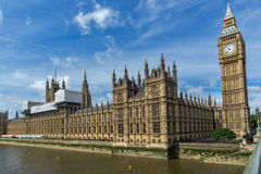 Houses of Parliament, Palace of Westminster,  London, England Royalty Free Stock Photos