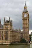 The Houses of Parliament at the river Thames Royalty Free Stock Photography