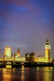 The Houses of Parliament and the River Thames, London Stock Photography