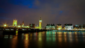 The Houses of Parliament and the River Thames, London Stock Image