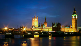 The Houses of Parliament and the River Thames, London Stock Images