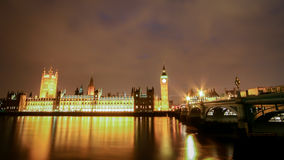 The Houses of Parliament and the River Thames, London Royalty Free Stock Photo