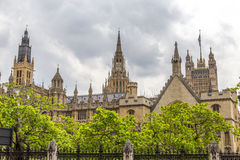 Houses of Parliament seen from Bridge Street. Houses of Parliament as seen from Bridge Street stock photo