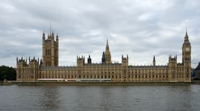 Houses of Parliament sideways Stock Image