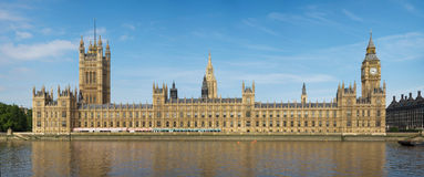 Houses of Parliament on a sunny day. A high resolution image of Houses of Parliament on a sunny day as viewed from across the Thames Royalty Free Stock Image