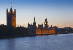 Houses of Parliament at sunset Stock Photos
