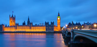 The Houses of Parliament after sunset Stock Photo