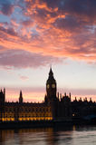 Houses of parliament at sunset, P Stock Image