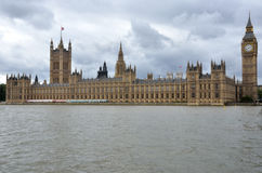 Houses of Parliament with Thames Stock Photography