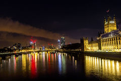Houses of Parliament Thames River Westminster Bridge London England Stock Photos