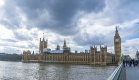 The Houses of Parliament Westminster with Big Ben and Queen Elizabeth Tower London UK Royalty Free Stock Photo