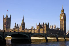 Houses of Parliament and Westminster Bridge Royalty Free Stock Photography
