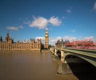 Houses of Parliament and Westminster Bridge Stock Photos