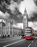 Houses of Parliament. And Westminster bridge in London Royalty Free Stock Photos