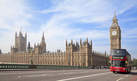 Houses of Parliament and Westminster bridge in London. Europe Stock Photos