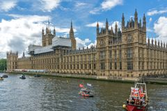 Houses of Parliament at Westminster, London, England, Great Britain. LONDON, ENGLAND - JUNE 15 2016: Houses of Parliament at Westminster, London, England, Great Stock Images