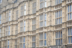 Houses of Parliament, Westminster; London. Facade of Houses of Parliament, Westminster; London, England, UK Royalty Free Stock Image