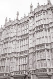 Houses of Parliament, Westminster; London. Facade of Houses of Parliament, Westminster; London, England, UK Stock Photo