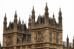 Houses of Parliament, Westminster Palace, London. Gothic architecture Stock Images