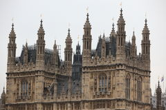 Houses of Parliament, Westminster Palace, London. Gothic architecture Royalty Free Stock Photography