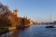 Houses of Parliament in winter morning, London Stock Photography