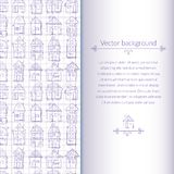 Houses pattern for template card Royalty Free Stock Images