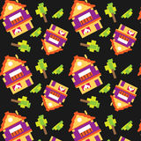 Houses pattern Stock Photography