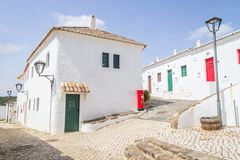 Houses in Pedralva village in Aljezur royalty free stock images
