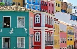 Houses of Pelourinho. Colorful houses of Pelourinho in Salvador da Bahia Stock Image