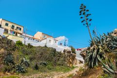 Houses in Peniche. Portugal stock photography