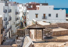 Houses in Peniscola castle, Spain Royalty Free Stock Photos