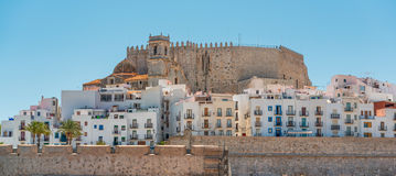 Houses in Peniscola castle, Spain Royalty Free Stock Images