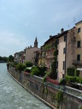 Houses , Peschiera del Garda Royalty Free Stock Images