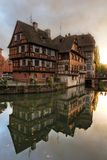 Houses in Petite-France, Strasbourg, France. A set of beautifull half-timbered houses reflecting in the canals of Petite-France area in Strasbourg, France. Last Stock Photo