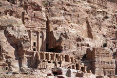 Houses of Petra city in Jordan in the Middle East Royalty Free Stock Image