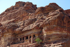Houses of Petra city in Jordan in the Middle East Stock Photo