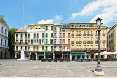 Houses on Piazza dei Signori in Padua, Italy Royalty Free Stock Photography