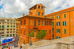 Houses in Piazza Spagna in Rome, Italy. Stock Photography