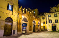 Houses on Piazzetta Pescheria in Verona Royalty Free Stock Image