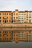 houses pisa tuscany Arkivfoto