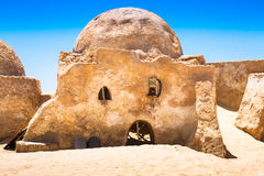 The houses from planet Tatouine - Star Wars film set,Nefta Tunis Stock Photos