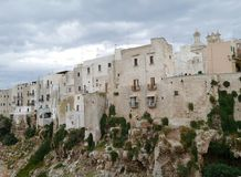 Houses in Polignano a mare in Italy Stock Images