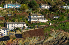 Houses in Polperro Stock Images